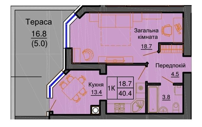 ЖК София клубный квартира с террасой